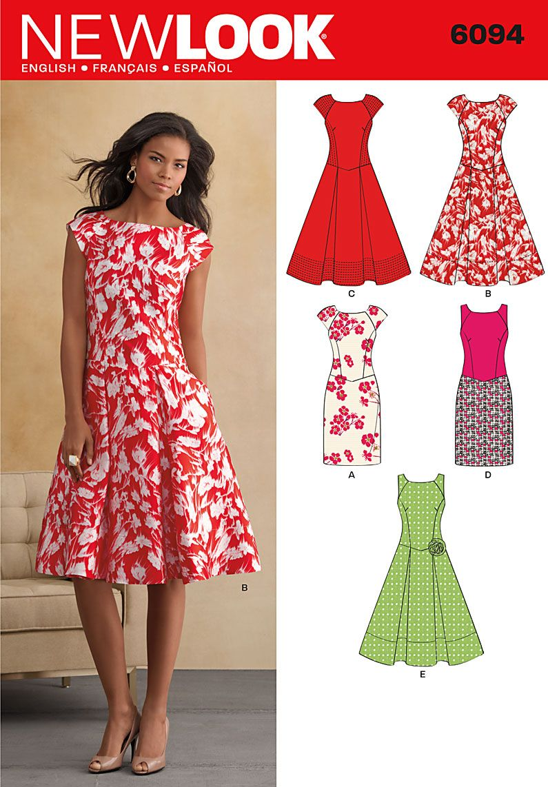 e9c5c780abfafb Purchase New Look 6094 dress and read its pattern reviews. Find other  Dresses, sewing patterns.