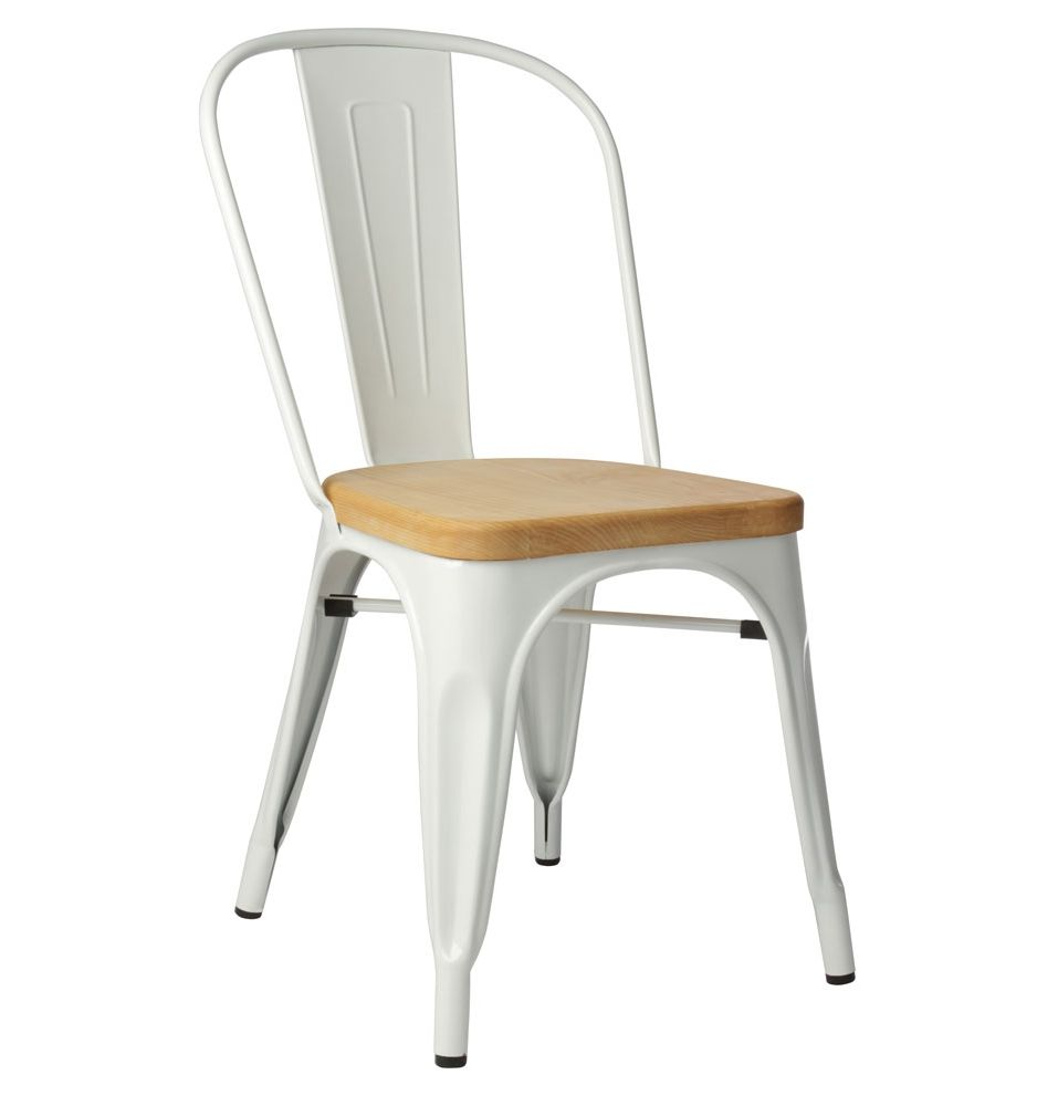 Replica Xavier Pauchard Tolix Chair Ash Seat Matt Blatt