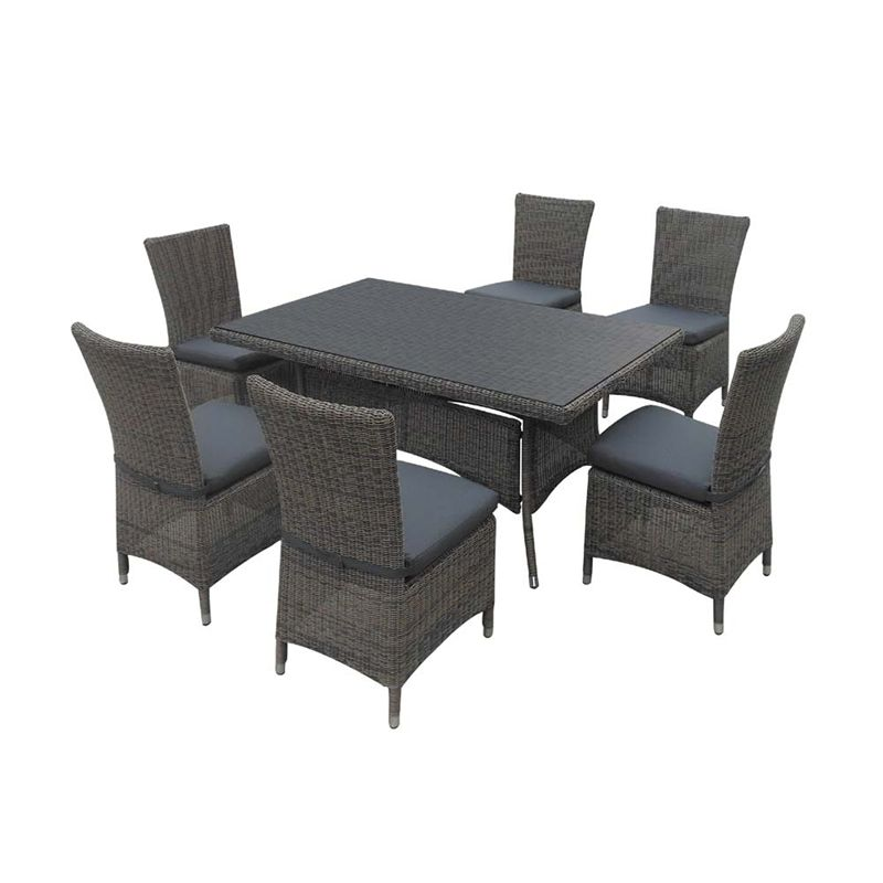 Mimosa Aria 7 Piece Resin Wicker Outdoor Setting Bunnings Warehouse Decor Furniture