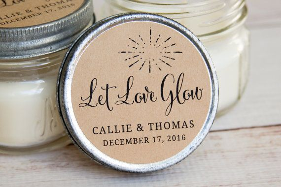 Wedding candles would make a wonderful favor for your wedding. Add these labels for that special touch! #whitecandleswedding