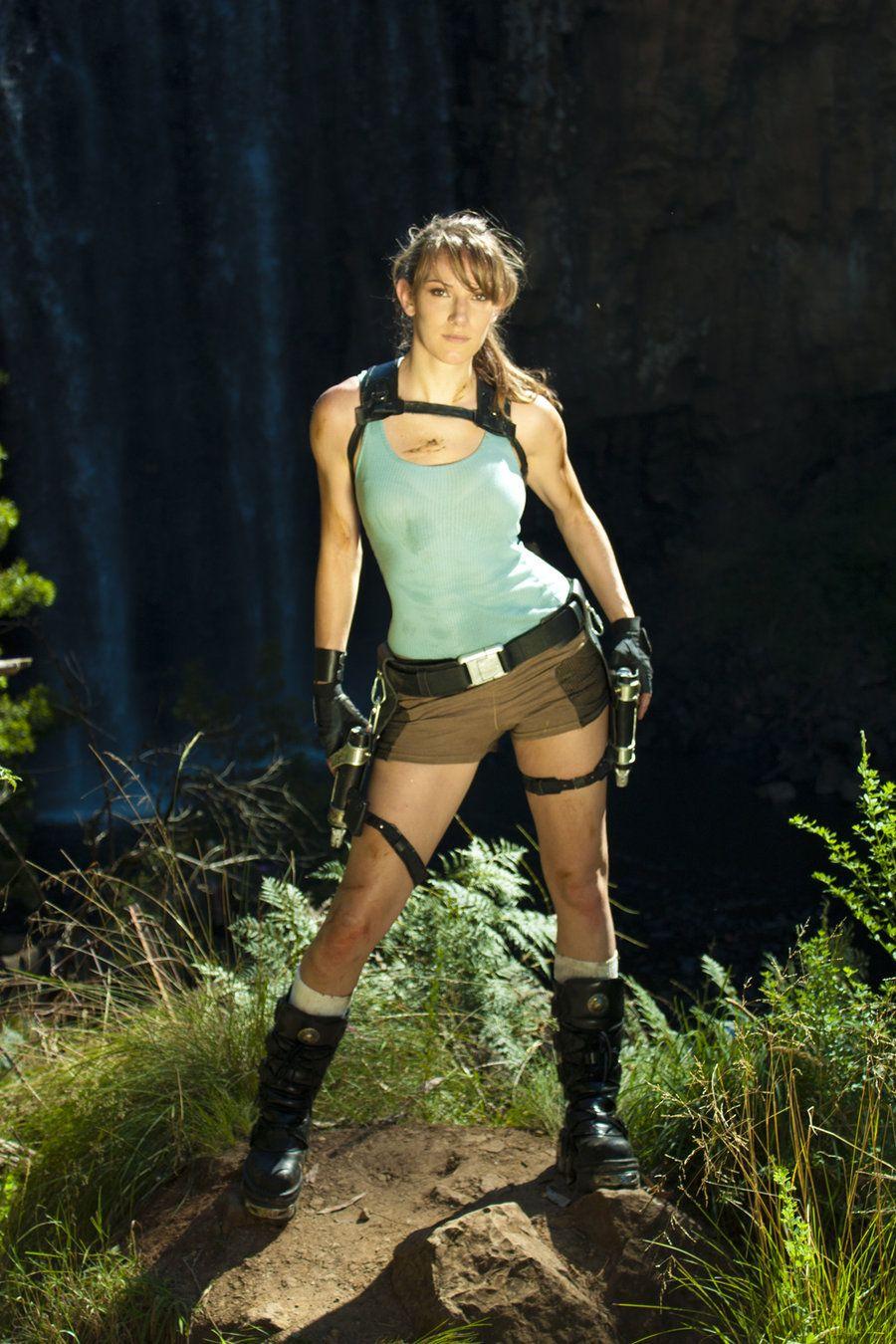 Lara Croft, women, cosplay, model, JennCroft, girls with