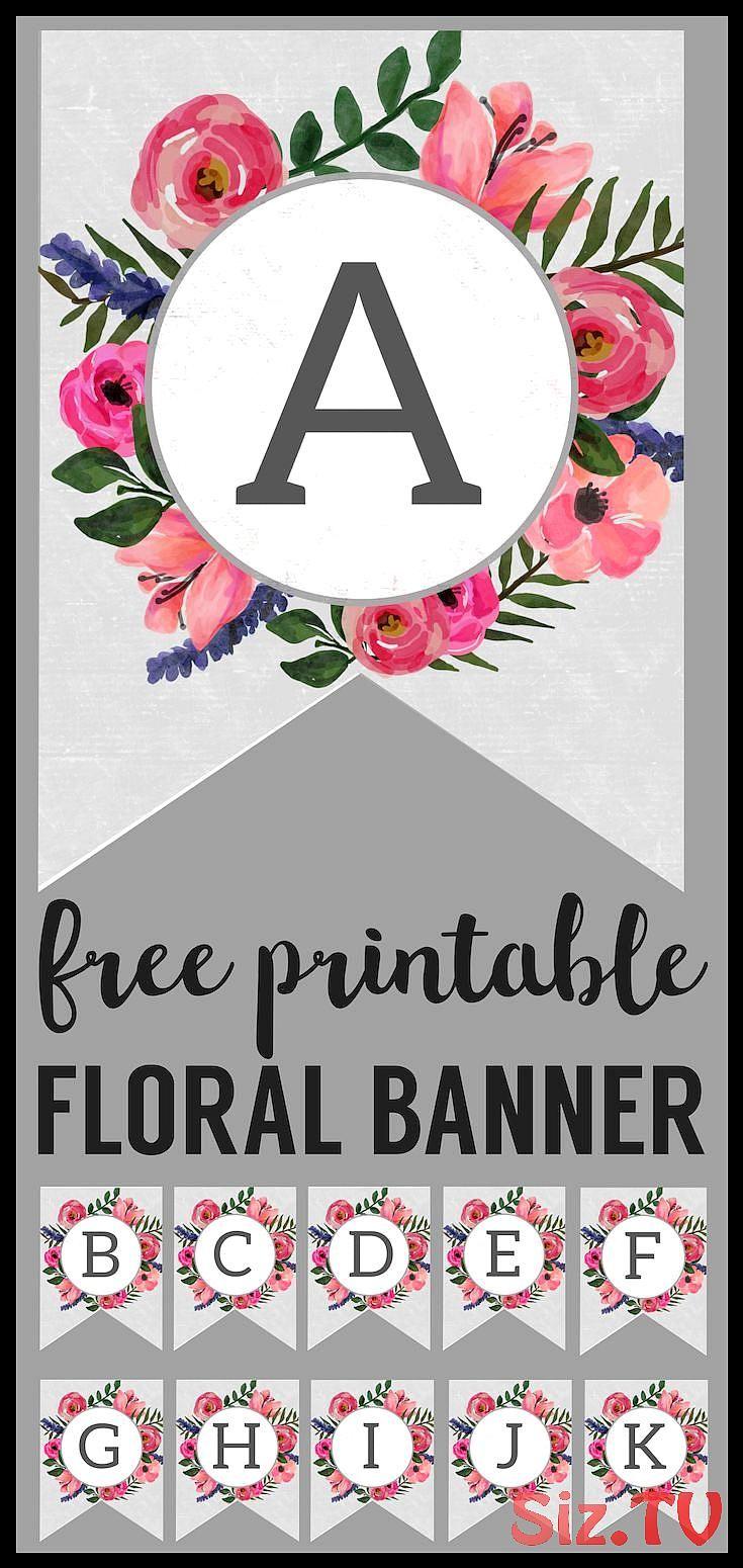 Floral Alphabet Banner Letters Free Printable Floral Alphabet Banner Letters Free Printable fliegendeBiene Save Images fliegendeBiene Floral Alphabet Banner Letters Free...