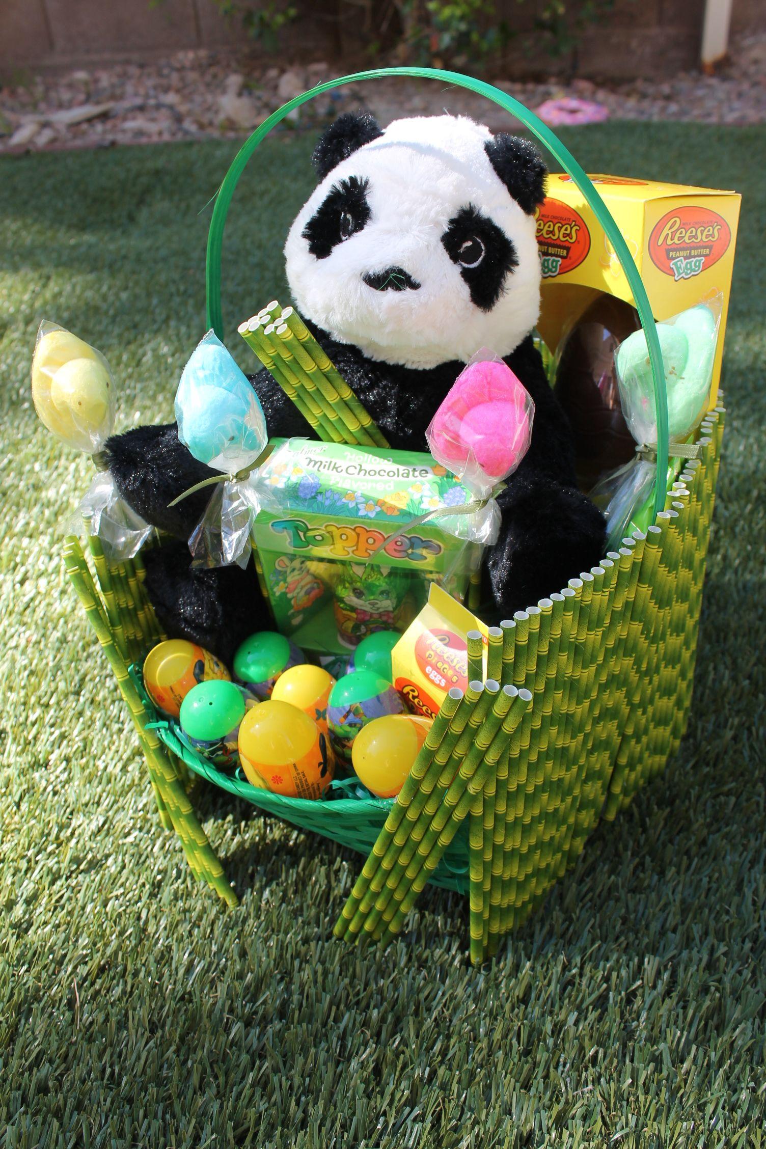 Custom handmade panda easter basket check out my etsy