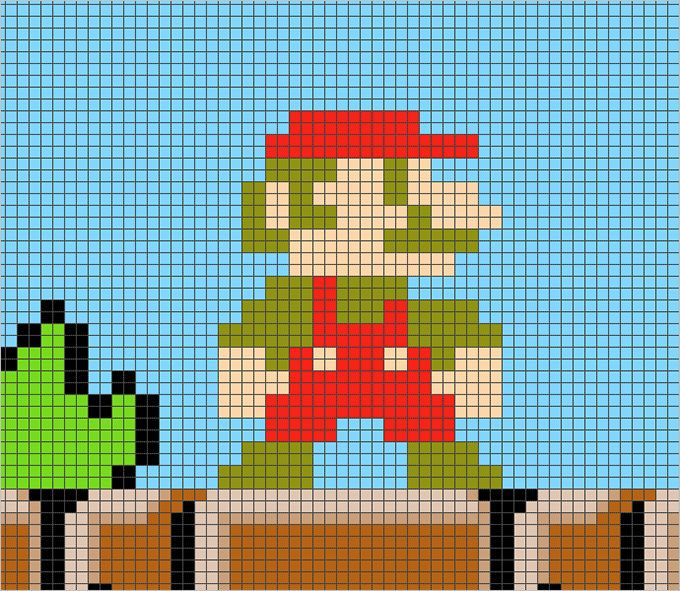 Pixel art template mario pixel art template free for future pixel art template mario pixel art template free pronofoot35fo Image collections