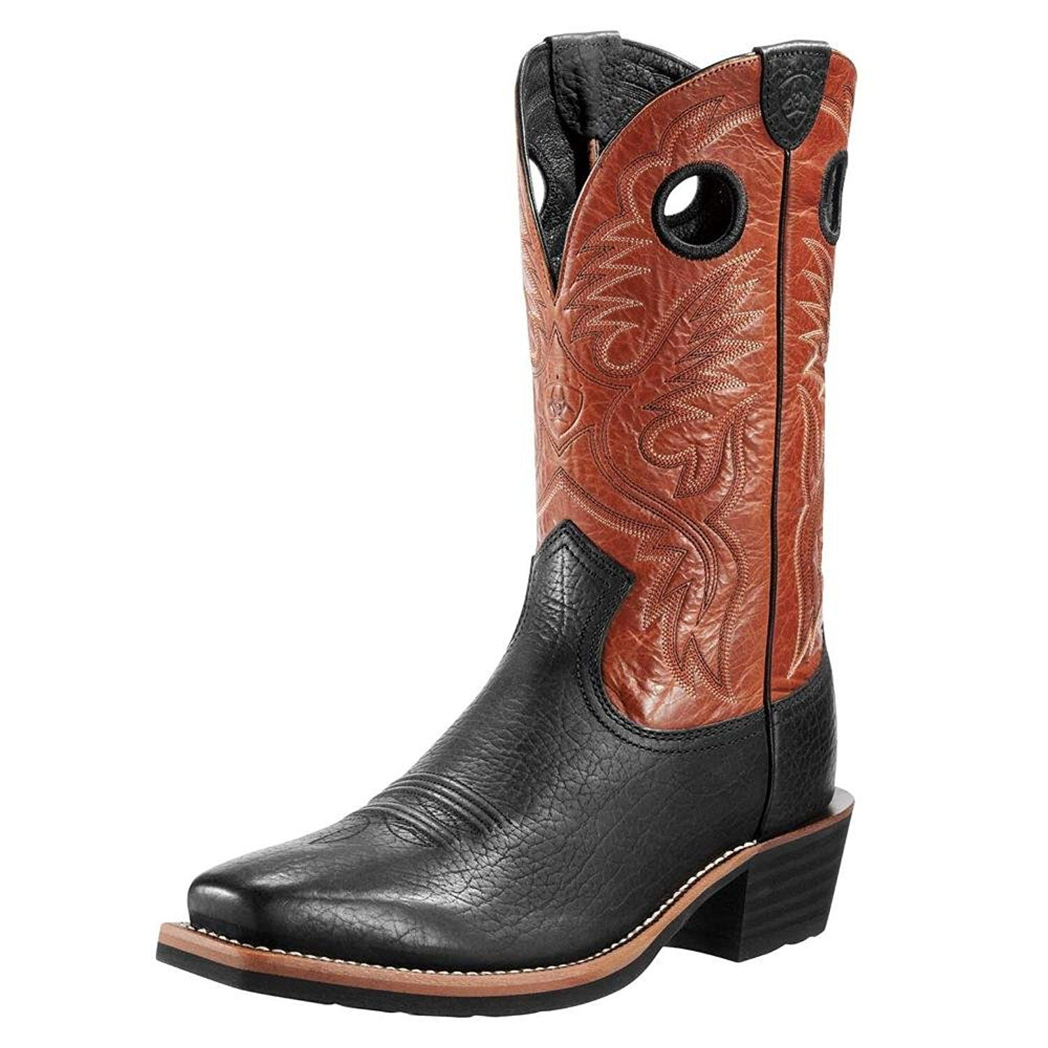 Ariat Men\'s Heritage Roughstock Square Toe Western Boot >>> Awesome ...
