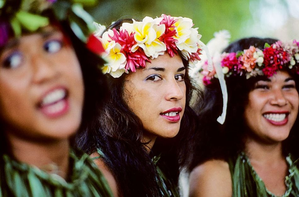Singing and dancing competitions, Heiva Tahiti, July Festival, the most important festival of Tahiti, City of Papeete (capital), Tahiti Island, the Society Islands, French Polynesia, Pacific