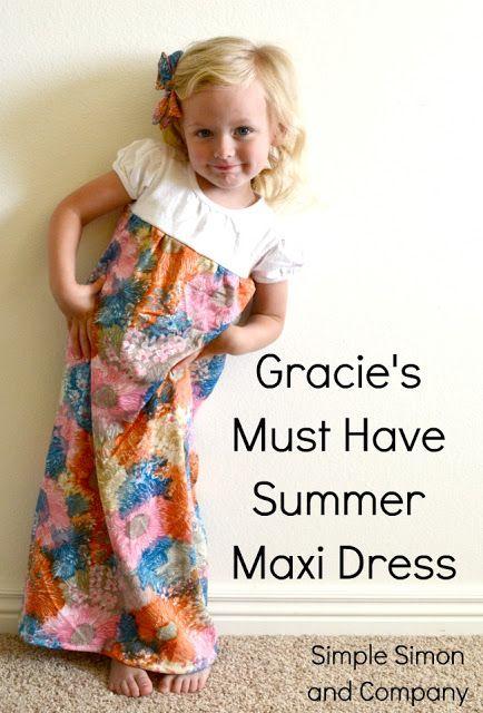 Simple Simon & Company: Summer Maxi Dress Tutorial