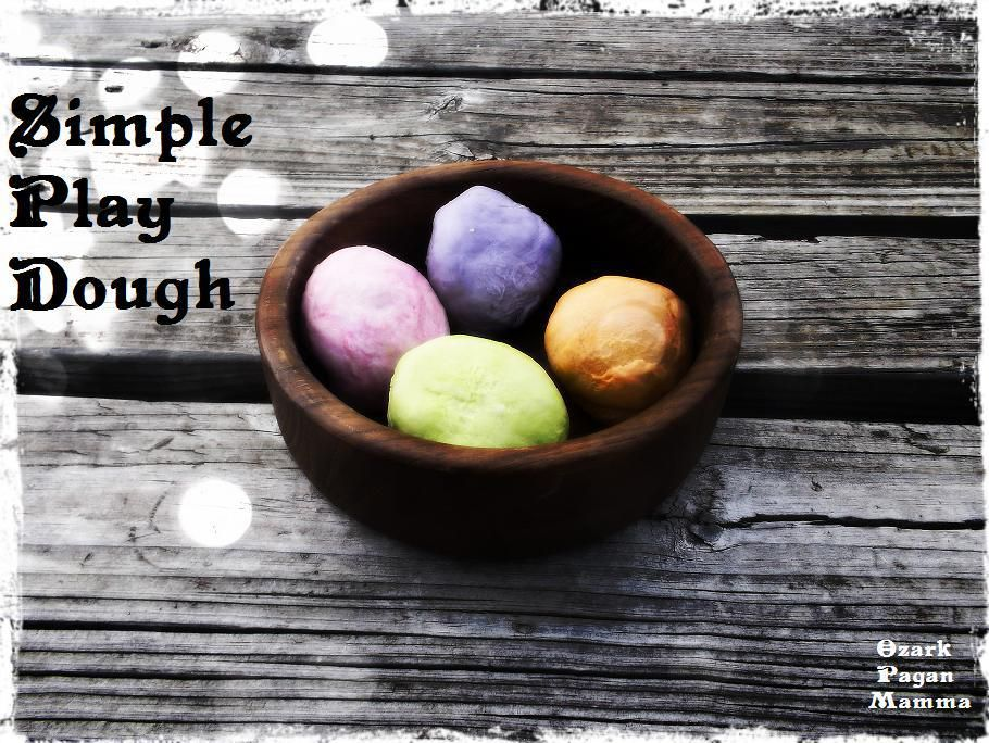 simple play dough Homemade playdough, Wiccan crafts