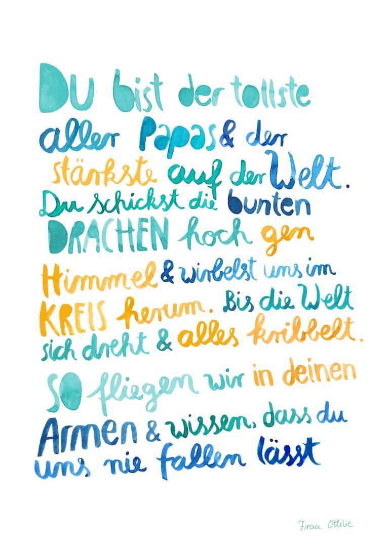 Print *Bester Papa* von Frau Ottilie