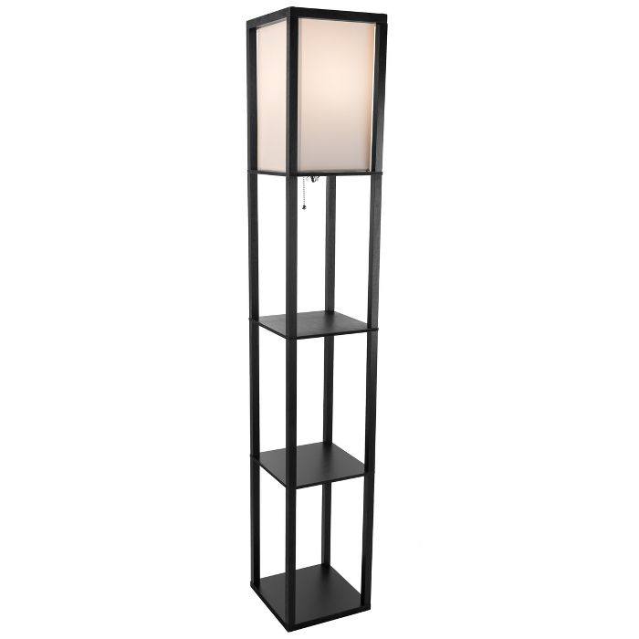 Torchiere Floor Lamp Black Includes Led Light Bulb Lavish Home In 2020 Lavish Home Black Floor Lamp Lamp