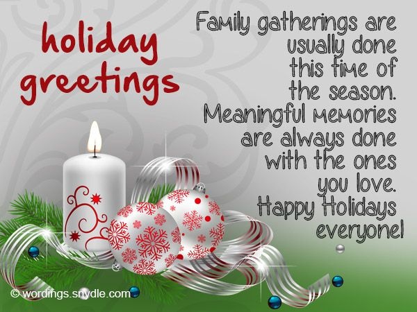 Holiday greeting card messages