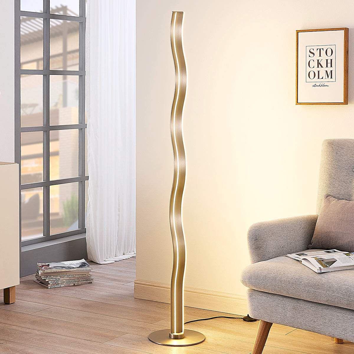 Moderne Stehlampe Von Lampenwelt Com Grau Bodenlampe Stehlampe