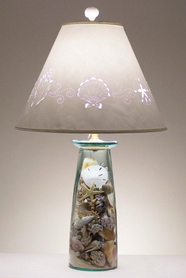 How To Make A Seashell Lamp Infobarrel Seashells Lamp Beach