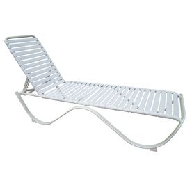 Garden Treasures Pagosa Springs White Aluminum Stackable Patio Chaise  Lounge Chair Hpgf86342 1