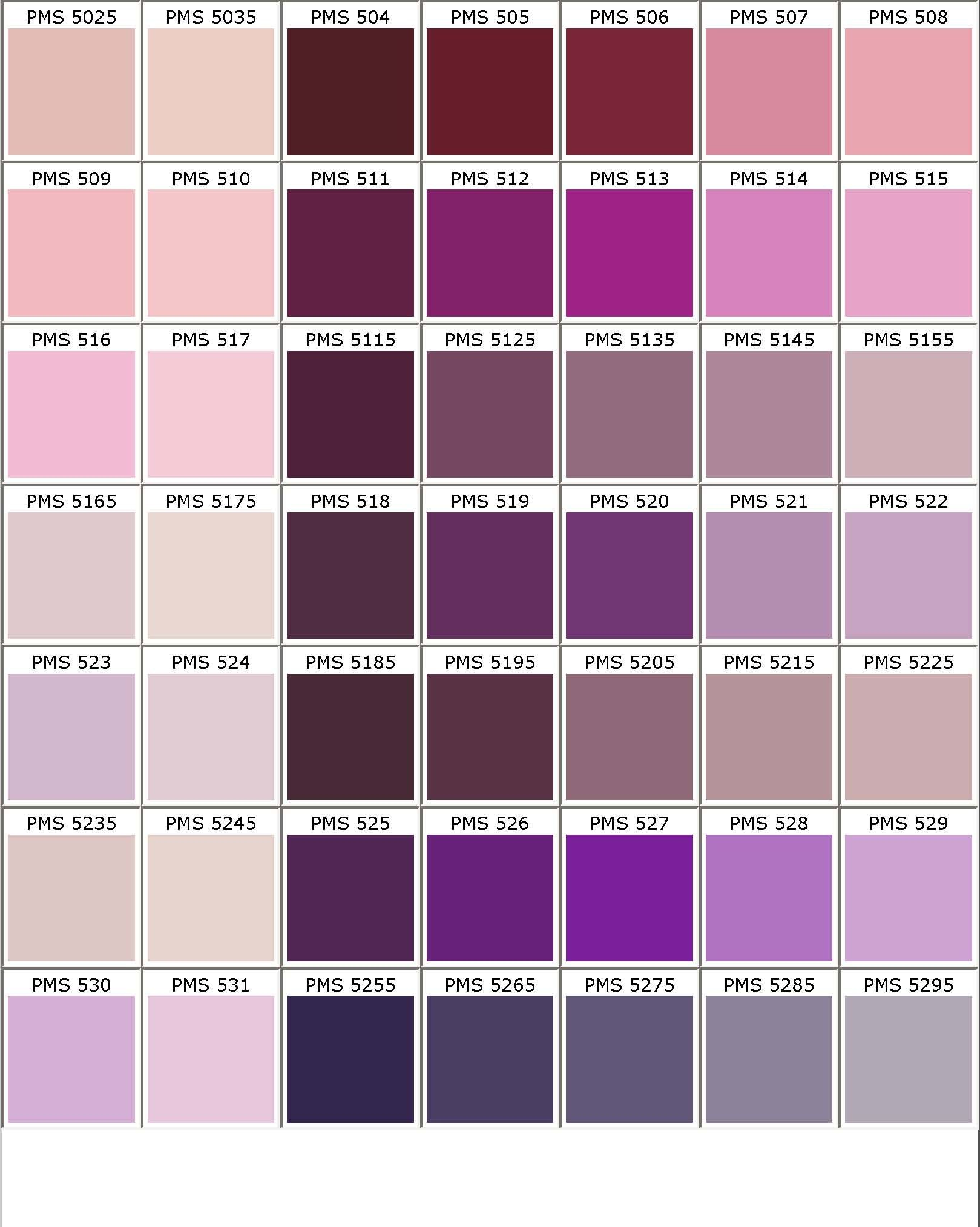 Pantone Pms Colors Chart Color Matching For Powder Coating Part 8