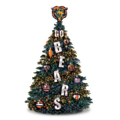 Chicago Bears Outdoor Pre-Lit Christmas Tree | Is it football ...