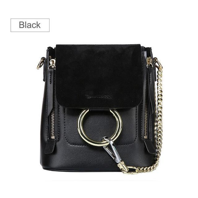 Beautiful Fashion Style Bucket Bag Genuine Leather Backpack Women Chain  Backpacks Cover Back Pack With Metal Ring For Lady W0850 7eb3118e651fc