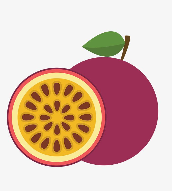 Vector Passion Fruit Png And Vector Fruit Vector Fruit Logo Passion Fruit