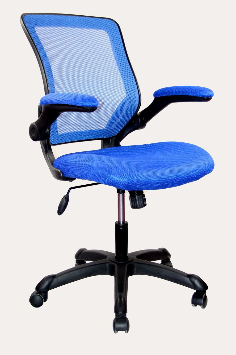 blue task chair office task chairs. Mid-Back Mesh Task Chair With Flip-Up Arms Blue Office Chairs F