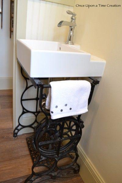 Sewing Machine Sink Base Kitchen Sink Diy Bathroom
