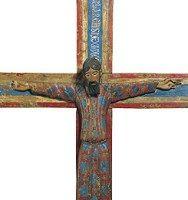 Majestad Batlló (detalle), talla en madera policromada, mediados S. XII, Col. MNAC