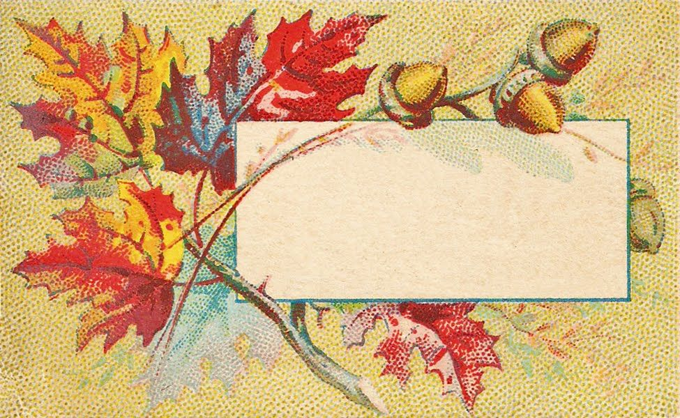 Free Vintage Autumn Leaves Calling Or Place Cards
