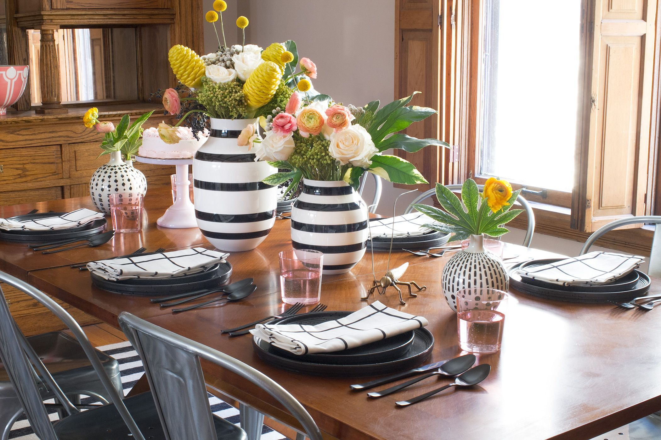 Setting The Table With Black & White