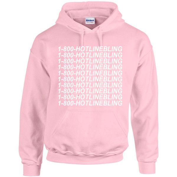1 800 Hotline Bling Hoodie Sweatshirt Pullover Light Pink Hotline ...