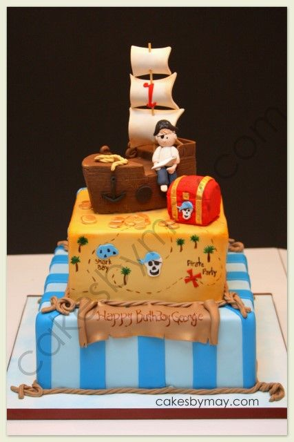 Perfect Pirate cake Cake Inspirations Pinterest Cake