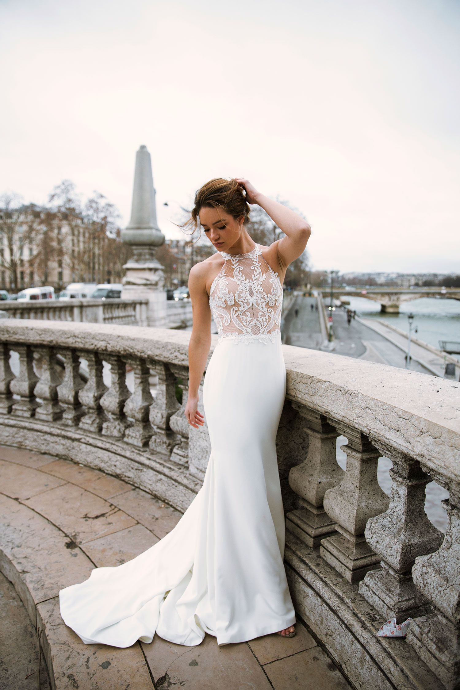 Fable Australian wedding dresses, Fit n flare wedding