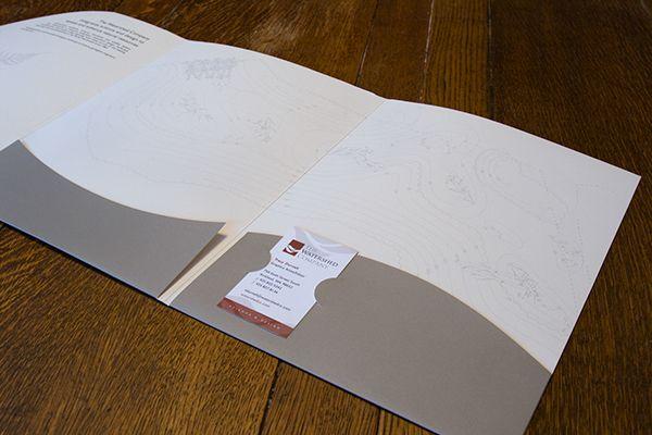 Custom Die-Cut Presentation Folder on Behance Die Cut - resume presentation folder