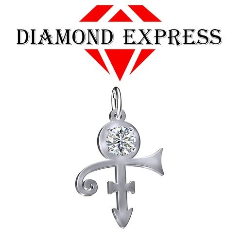 1 Ct Round Cut PRINCE Singer Artist Peace Symbol UNISEX Pendant - Death Anniversary 21st April. Starting at $1