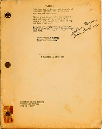 catherine turney script for no man of her own 1950 example of