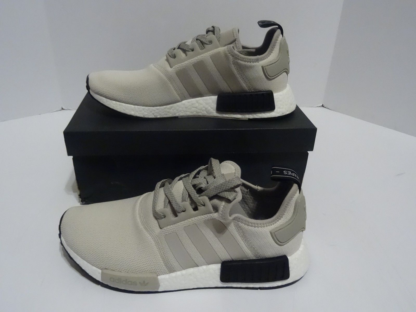 c47b4f5456c ... adidas nmd r1 tan white cream black s76848 mens sz 10 us nib