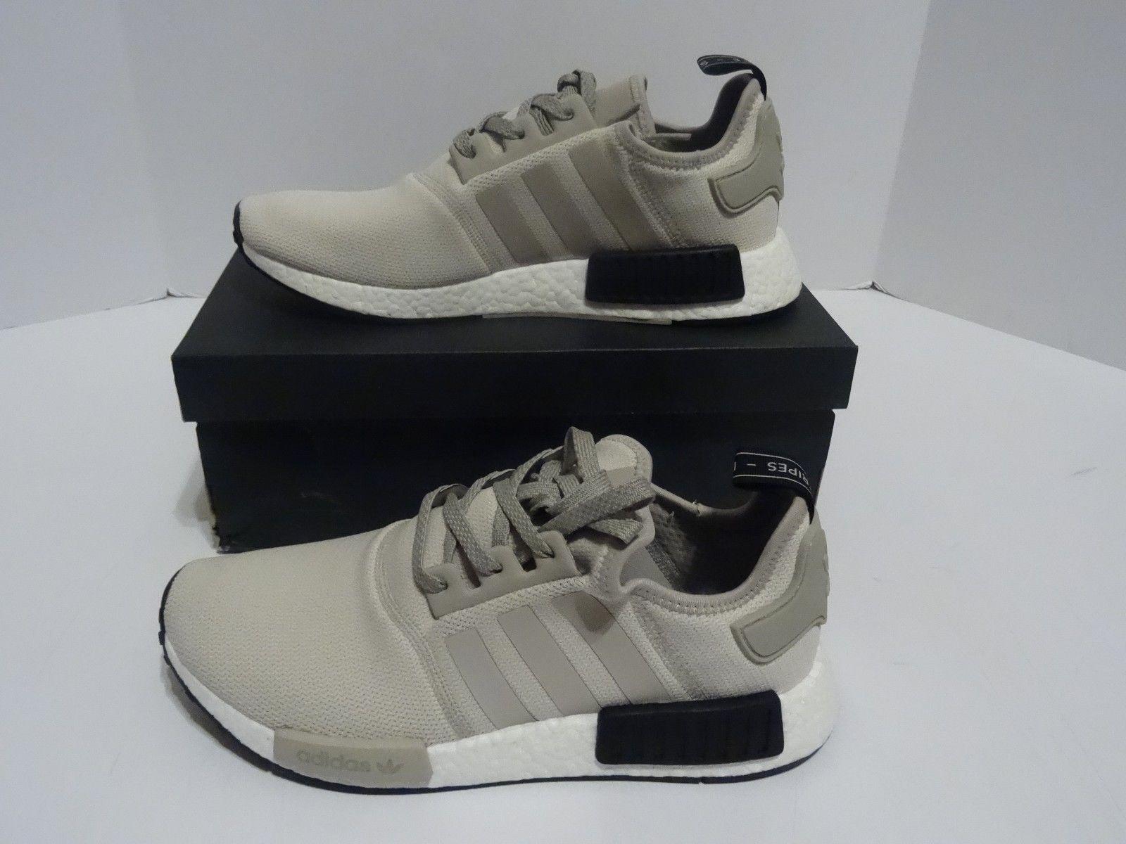 a0a1b69f7 adidas NMD R1 Tan White Cream Black S76848 Men s Sz 10 US NIB ...