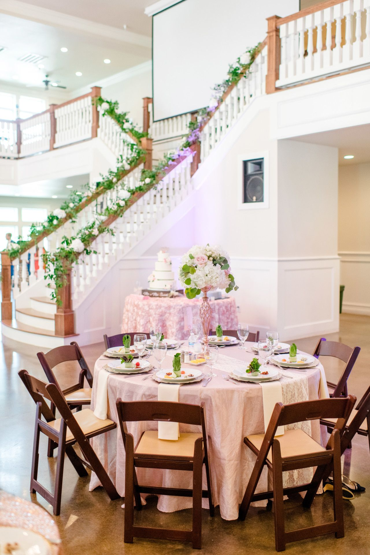 Wedding reception wedding decor ideas  blush pink wedding reception with greenery  elegant pink wedding
