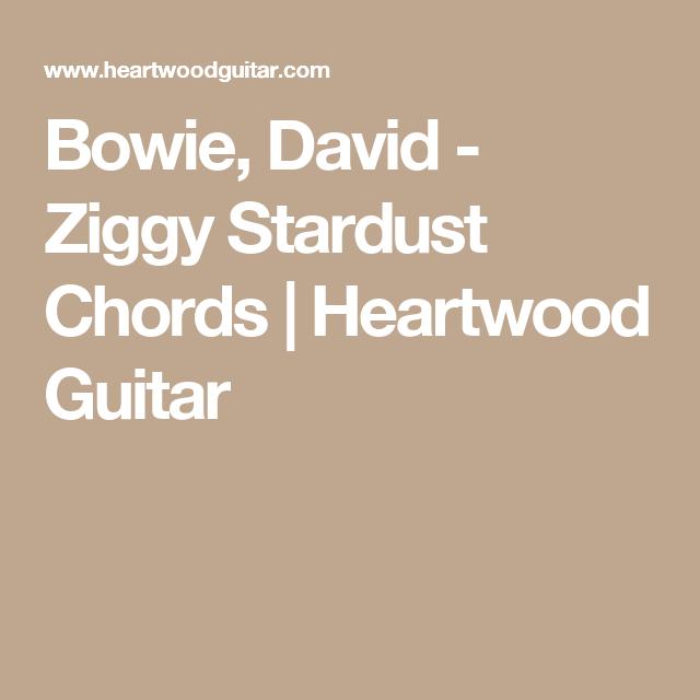 Bowie, David - Ziggy Stardust Chords | Heartwood Guitar | Accordi ...