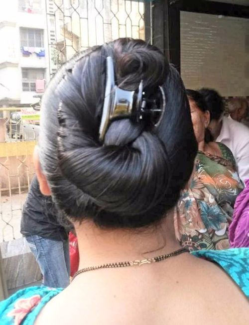 Round Hair Bun For Indian Oiled Hair Pricheski Vechernyaya Pricheska Ochen Dlinnye Volosy