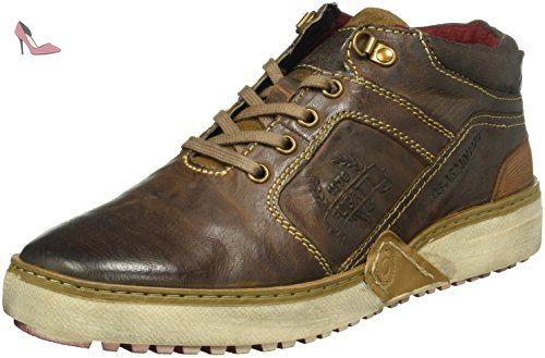K275683, Sneakers Hautes Homme, Marron (Rotbraun 660), 42 EUBugatti