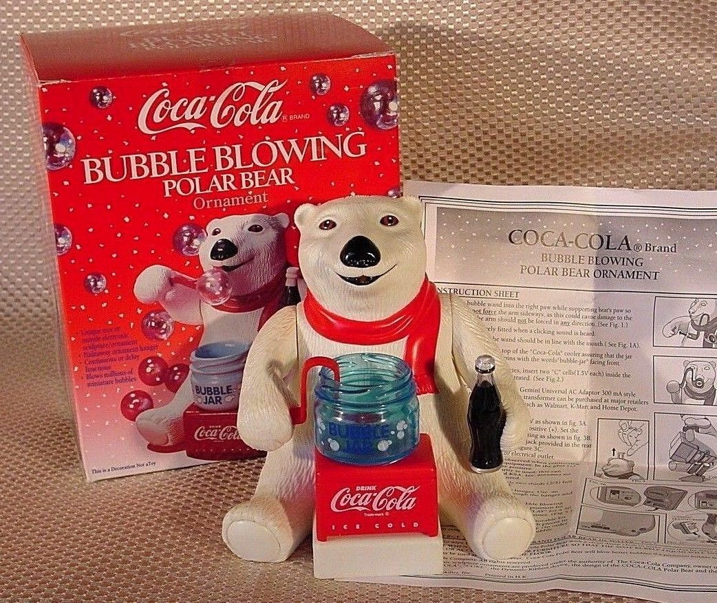 Coca-Cola Polar Bear Clock with Sound