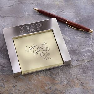 Personalized Monogram Post It Holder