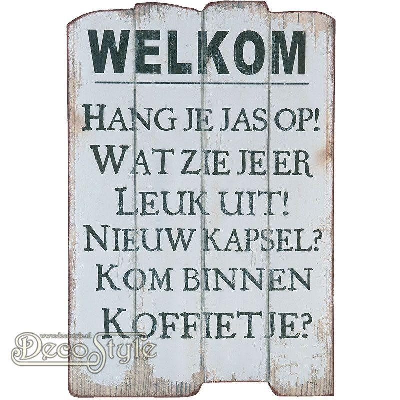 spreuken welkom Decoratie Spreuk   WELKOM | Houten decoratie / Wooden decoration spreuken welkom