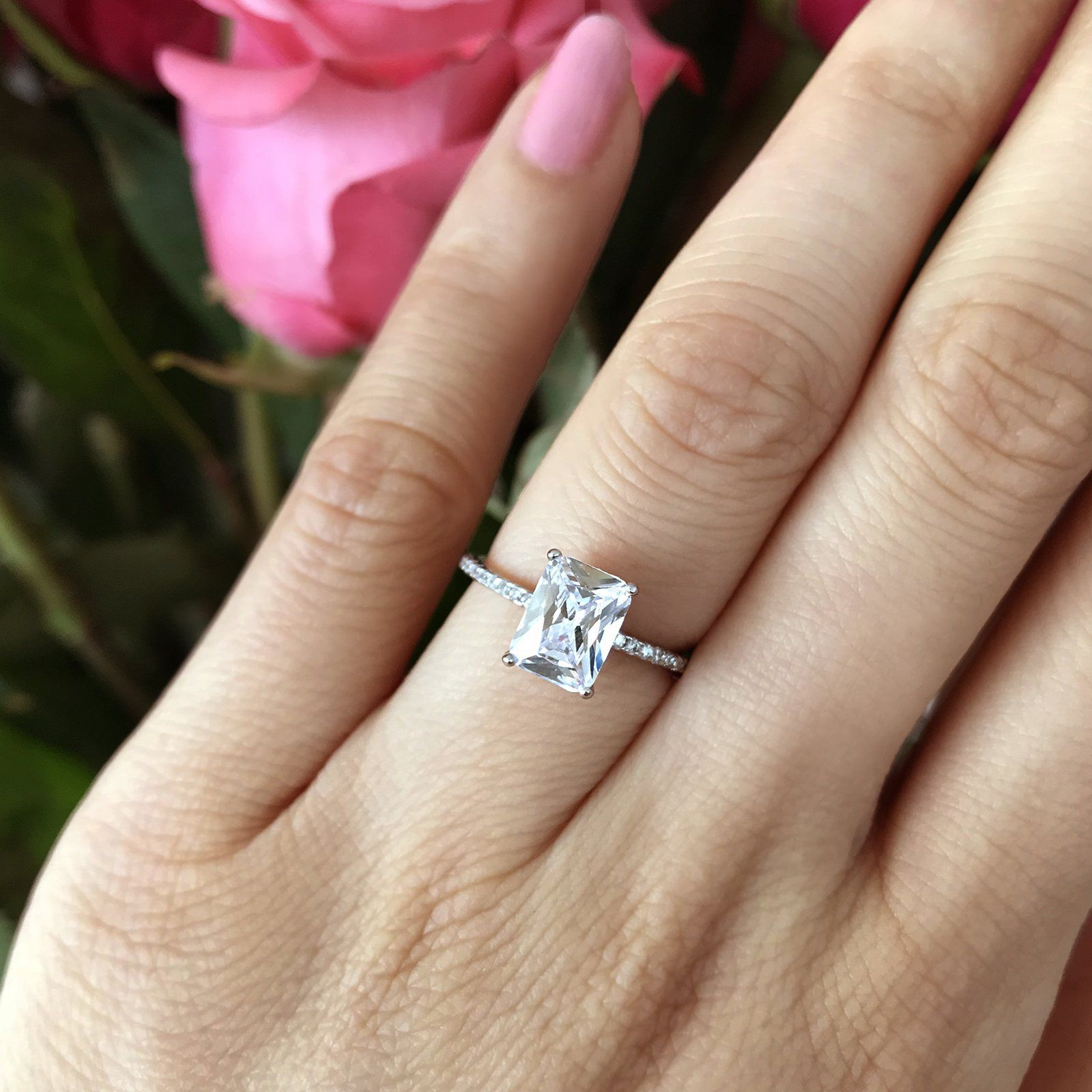 ctw radiant solitaire ring solitairediamondrings perfect