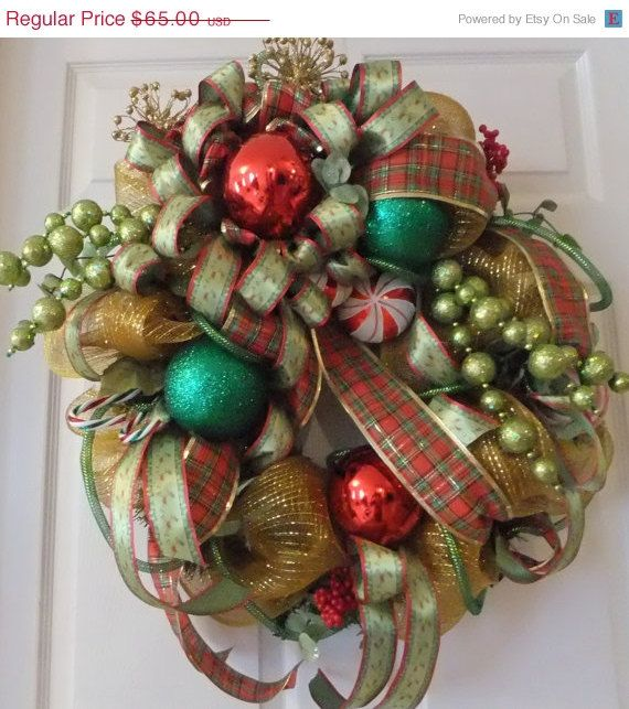 CHRISTMAS ON SALE Welcome Christmas Deco Mesh by PJCreativeWreaths - christmas decorations sale