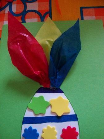 Lavoretti di Pasqua per bambini biglietto d'auguri fai da te originale (6)