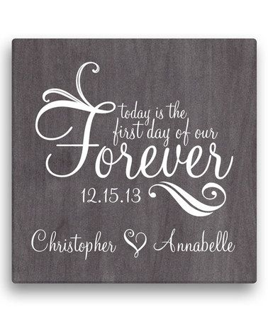 Love this 'First Day of Our Forever' Personalized Wrapped Canvas by Personalized Planet on #zulily! #zulilyfinds