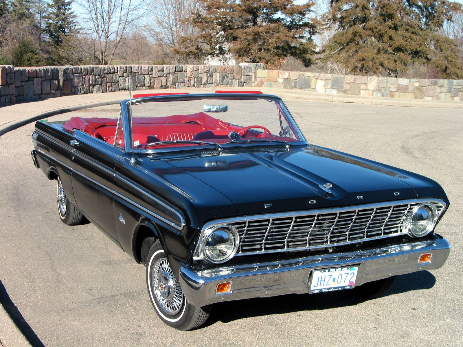 Black 1964 Ford Falcon Convertible W Red Leather Interior