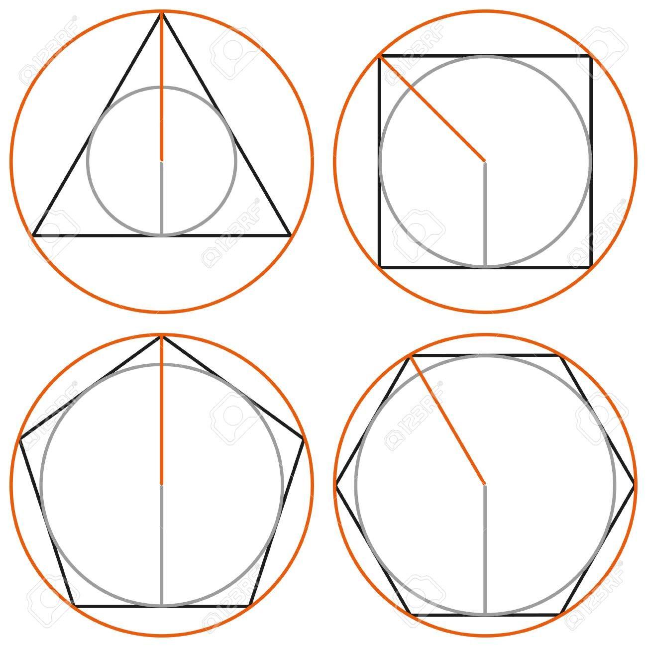 Circle And Polygon Circle Inscribed In A Polygon Circle
