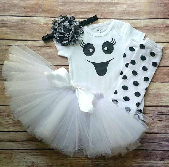 girls ghost costume girls halloween costume baby girl. Black Bedroom Furniture Sets. Home Design Ideas