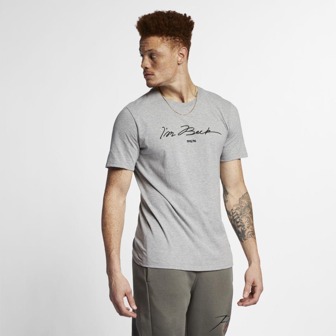 finest selection 289c8 0d174 Jordan Sportswear Legacy AJ 11 Men's T-Shirt Size L (Carbon ...